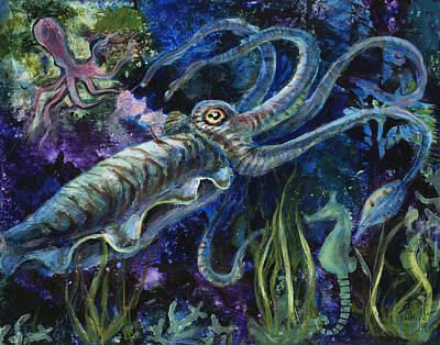 Cuttlefish Drift Original by Patti Mann