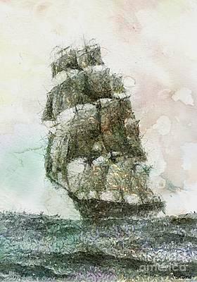 Cutty Sark Clipper Original by Dragica  Micki Fortuna