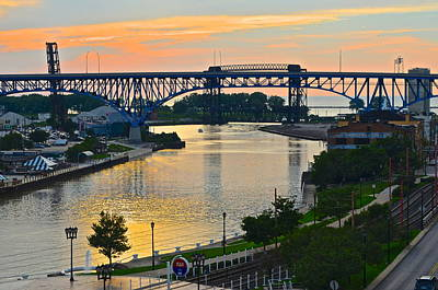 Photograph - Cuyahoga River Cleveland Ohio by Frozen in Time Fine Art Photography
