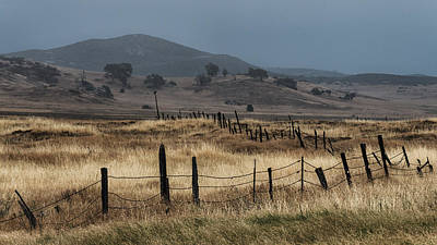 Barbwire Photograph - Cuyamaca Fenceline by Joseph Smith