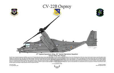 Deployment Digital Art - Cv-22b Osprey 20th Sos by Arthur Eggers