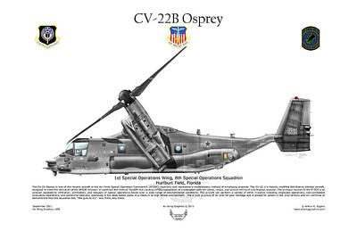 Cv-22b Osprey 8th Sos Art Print by Arthur Eggers