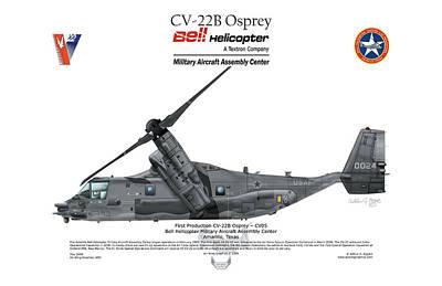 Cv-22b Osprey Art Print by Arthur Eggers