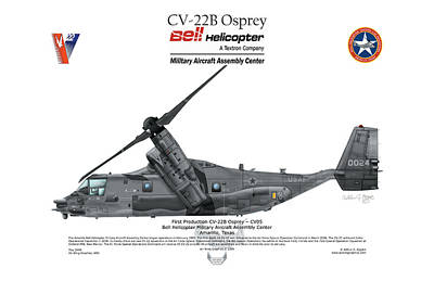 Art Print featuring the digital art Cv-22b Osprey by Arthur Eggers