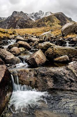Watercolour Stones Photograph - Cwm Idwal River by Adrian Evans