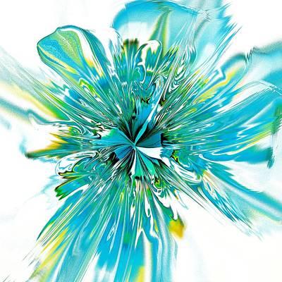 Vivid Digital Art - Cyan Blue by Anastasiya Malakhova