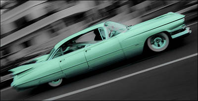 Cyan Caddy Art Print by Phil 'motography' Clark
