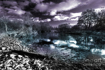 Cyan River  Print by Rob Hawkins