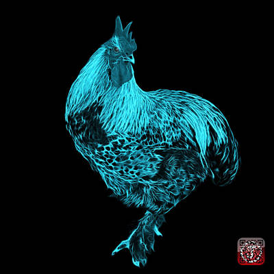 Painting - Cyan Rooster - 3166 Fs by James Ahn