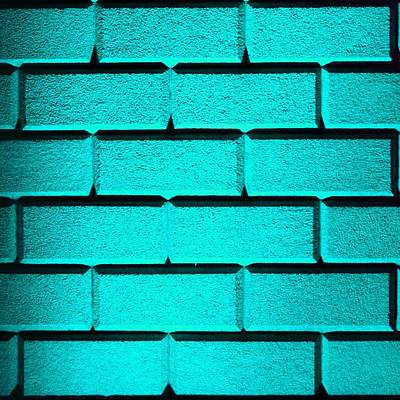 Photograph - Cyan Wall by Semmick Photo
