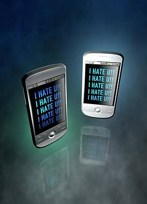 Cyber Bullying Art Print by Victor Habbick Visions