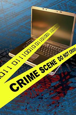 Cyberspace Photograph - Cyber Crime by Carol & Mike Werner