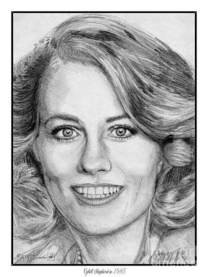 Drawing - Cybill Shepherd In 1985 by J McCombie