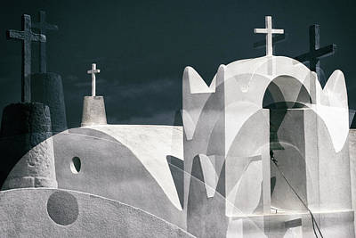 Church Architecture Photograph - Cycladen Crosses by Hans-wolfgang Hawerkamp