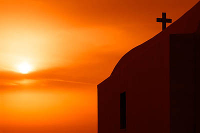 Greece Photograph - Cyclades Greece - Amorgos Island Church In Sunset by Alexander Voss