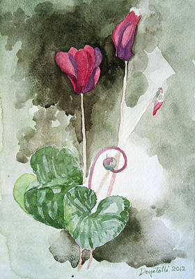 Painting - Cyclamen 1 Study by Kathryn Donatelli