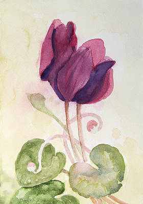 Painting - Cyclamen 2 Study by Kathryn Donatelli