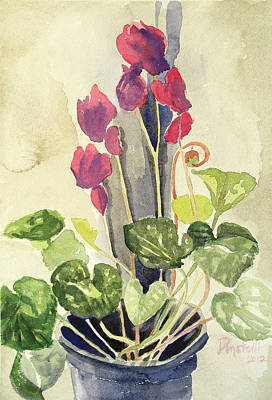 Painting - Cyclamen 3 Study by Kathryn Donatelli