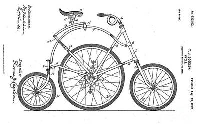 Photograph - Cycle Cookson 1899 by Steven Parker