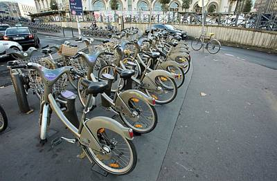 Bicycle Photograph - Cycle Hire Scheme by Bob Gibbons