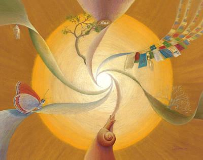 Spiritual Drawing - Cycle Of Life by Robin Aisha Landsong