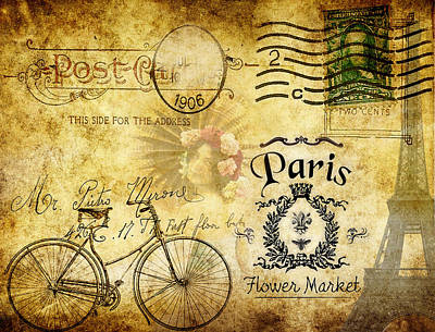 Photograph - Postcard From Paris by Greg Sharpe