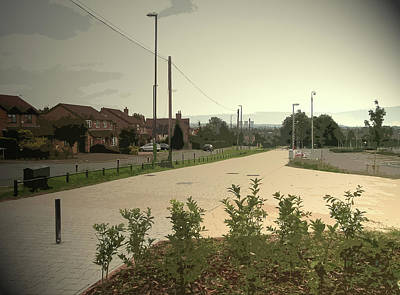 Cycle Track Near Derby Community Sports, Pictured Art Print