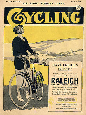 Bike Drawing - Cycling 1922 1920s Uk Bicycles by The Advertising Archives