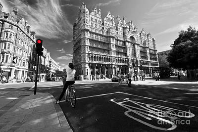 Cycling In The City Art Print