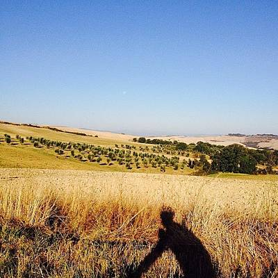 Cycling Photograph - Cycling In Tuscany #cycling by Randy Chen