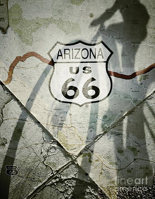 Photograph - Cycling Route 66 by Marianne Jensen