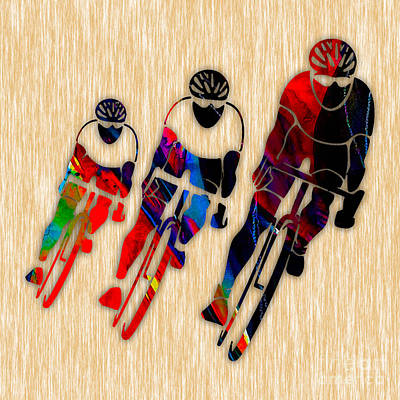 Cyclist Print by Marvin Blaine