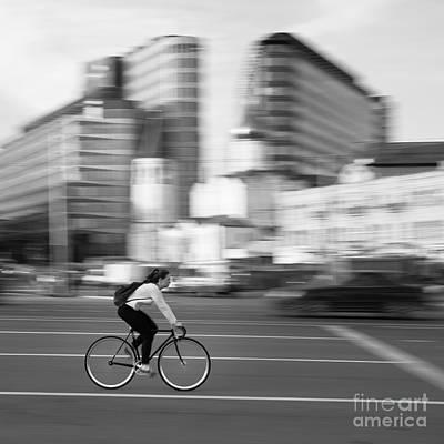 Photograph - Cyclist by Maurizio Bacciarini