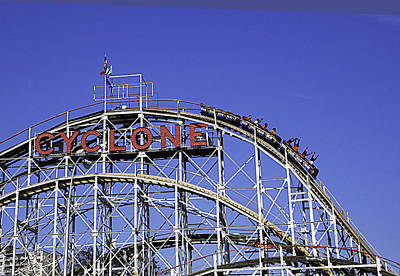 Cyclone 2013 - Coney Island - Bklyn - Ny Art Print by Madeline Ellis