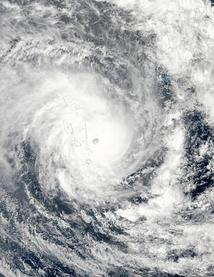 Destruction Island Photograph - Cyclone Pam Over Vanuatu by Jeff Schmaltz, Lance/eosdis Modis Rapid Response Team At Nasa Gsfc