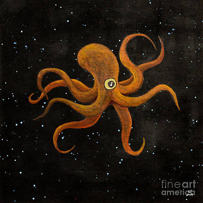 Cycloptopus Black Art Print by Stefanie Forck