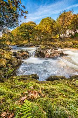 Gorge Digital Art - Cyfyng Falls by Adrian Evans