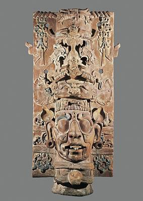 Precolumbian Photograph - Cylinder With Sunny God. High 114,2 Cm by Everett