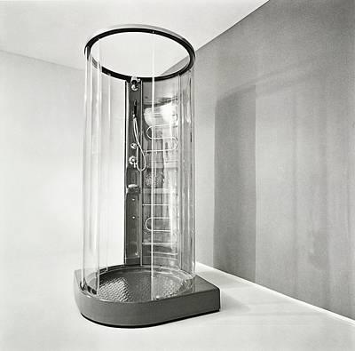 Cylindrical Shower By Fabio Lenci Art Print