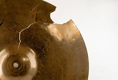 Cymbal On White Art Print
