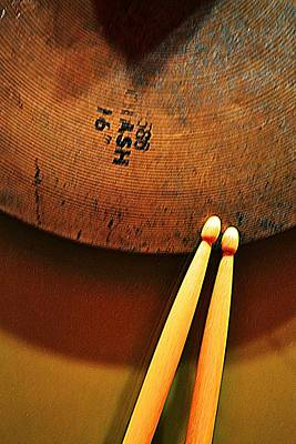 Photograph - Cymbals And Sticks 2 by Nadalyn Larsen