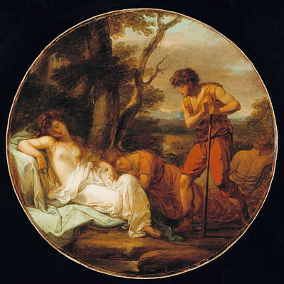 Angelica Painting - Cymon And Iphigenia by Angelica Kauffmann