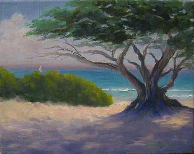 Carmel By The Sea Painting - Cypress And Turquoise by Candace Doub