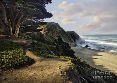 Cypress Beach Art Print