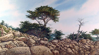 Art Print featuring the painting Cypress Garden by Tom Wooldridge