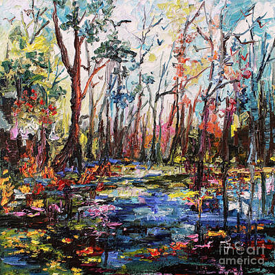 Cypress Swamp Painting - Cypress Gardens South Carolina by Ginette Callaway