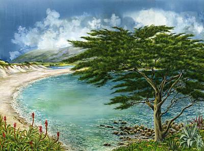 Carmel Wall Art - Painting - Cypress by Karen Wright