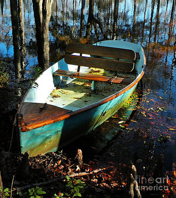 Photograph - Cypress Lake Boat by Deborah Smith