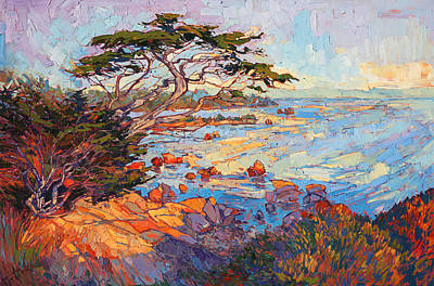 California Coast Painting - Cypress Mosaic by Erin Hanson