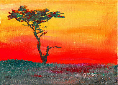 Cypress Sunrise Art Print by Gail Daley